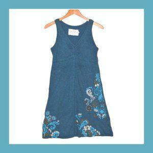 Aventura Organic Cotton Dress S Blue Embroidery